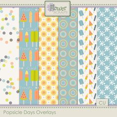 Collections :: P :: Popsicle Days by Flower Scraps :: Popsicle Days {Overlays}