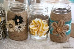 Adorable DIY mason jars