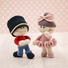 Amigurumi crochet doll  The Little Doodahs Clara and The