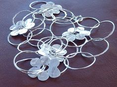 Sterling Silver Necklace Handmade Rings and by jewelrybymichal, $125.00