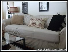DIY couch cover the lazy way King size sheet I simply folded