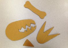 Dino fossil shapes from Dinosaur storytime.