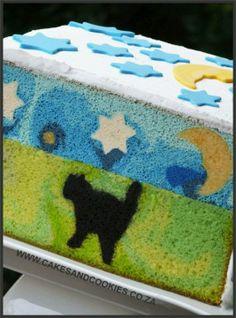 Patterns designs inside cake