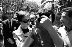 Ralph Crane—Time & Life Pictures/Getty ImagesNot published in LIFE. Twiggy with boyfriend and manager Justin De Villeneuve at Disneyland during her first visit to the U.S., 1967