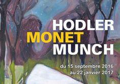3 peintres de renom au coeur de l'exposition Hodler Monnet Munsch au Musée…