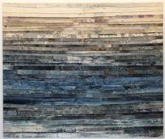 Heidi Lampenius: Sea Stories III, 2014, muste ja akryyli kankaalle, 250x300 cm - Galleria Sinne