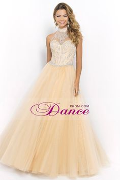 27d1675b2 2015 Halter Beaded Bodice A Line/Princess Prom Dress With Tulle Skirt