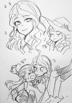 Akko X Diana (Yuri, Shoujo Ai) Little Wich Academia, My Little Witch Academia, Yuri Anime, Shoujo, Cool Artwork, Manga Art, Diana, Geek Stuff, Game 1