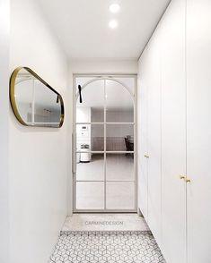 • THE_K 울산,현관인테리어 신발 수납장! 당신의 집 첫인상은? : 네이버 블로그 Arched Doors, Internal Doors, Windows And Doors, Sliding Doors, Entry Hallway, Entrance Hall, Door Design, House Design, Steel Frame Doors