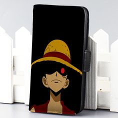 Luffy One PIece 2 anime wallet case for iphone 4,4s,5,5s,5c,6 and samsung galaxy s3,s4,s5 - LSNCONECALL.COM