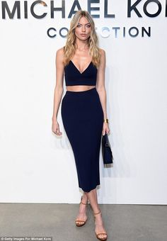 Gorgeous:Martha Hunt certainly kept up with appearances on Wednesday night as she attended the Michael Kors show at New York Fashion Week