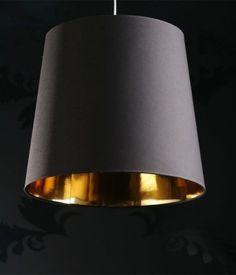 FineBuy Design Hängeleuchte Dark Sapphire XXL Hängelampe in schwarz / gold | eBay