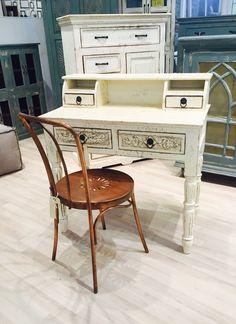 Vintage skrivebord med fin kobber stol - kollektions prøve!