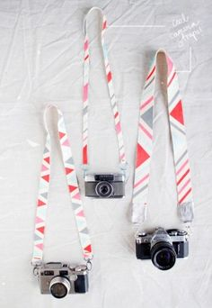 Old bag or purse straps re-fashioned into camera straps, love it!