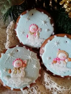 Snow babies, gingerbread , decorated cookies, ornaments, keepsakes