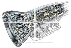 4-speed automatic transmission cutaway
