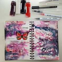 --- Best way to finish your weekend Do Art Daily ♡ --- ~~ Najlepsze zakończenie  weekendu ♡ ~~ #maremismallart #mixedmedia #visualart  #artdiary #artjournaling #journaling #visualart #13arts #artdaily #onmydesk #art #instaart #journallove #journal #maremi_small_art #maremissmallart