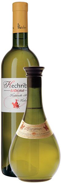 S.Kechris Domaine, KECHRIBARI - Appellation by Tradition,  Greek Dry White Wine, Retsina - 100% Roditis - Vinification in tanks, top-quality fresh pine resin addition during alcoholic fermentation - Pale yellow with greenish hues - Pear, green apple, melon, notes of lime, Chios mastic, fresh pine resin - Aromatic and well-balanced - Food pairing: Greek mezes, vegetarian dishes rich in olive oil, pan-fried, grilled or spit-roasted meat, feta cheese with olive oil and oregano - Served: 10-12°C Food Pairing, Chios, Dry White Wine, Balanced Meals, Roasted Meat, Wine Decanter, Olive Oil, Wines, Pear