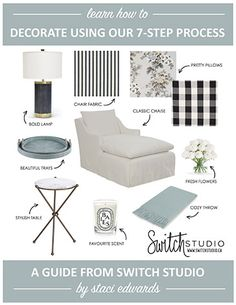 FREE GUIDE!!  DOWNLOAD YOUR FREE GUIDE NOW AND LEARN HOW TO DECORATE ANY ROOM USING OUR 7-STEP PROCESS! - CLICK THE LINK!!  http://www.switchstudio.ca/design-decorating-7-step-guide