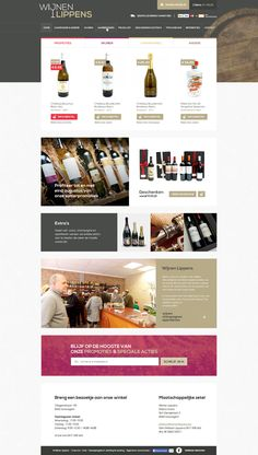 E-commerce/Webshop for WijnenLippens - Wine shop - Designed by Weblounge - www.weblounge.be #layout #webdesign #website #ecommerce #wine
