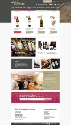 E-commerce/Webshop for WijnenLippens - Wine shop - Designed by Weblounge - www.weblounge.be #layout #webdesign #website #ecommerce #wine