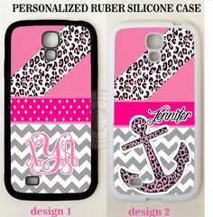 HOT PINK LEOPARD GREY CHEVRON ANCHOR MONOGRAM Case For Samsung Galaxy NOTE S8 S7 #UnbrandedGeneric
