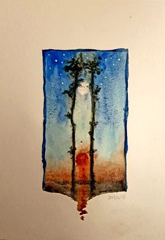 Blue Bayou. #watercolour #art