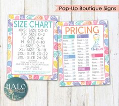 LuLaRoe PAISLEY Pricing & Size Charts for by HALOdesignsSHOP