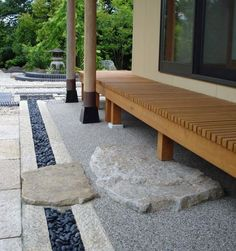 Step down from a wraparound porch into a Japanese garden. Step down from a wraparound porch into a Japanese garden. Small Japanese Garden, Japanese Tea House, Japanese Garden Design, Japanese Landscape, Japanese Garden Backyard, Japanese Gardens, Outdoor Rooms, Outdoor Living, Outdoor Decor