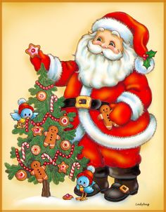 """""""Santa's Treat"""", or at least I think it was given that title. Did so many that sometimes I lost track. © Ladybug Creations 2002."""