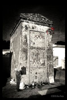 Marie Laveau's tomb in New Orleans. I missed seeing it when we were there, but I'm going to see it next time!