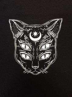 i think this is dope. not sure if it would work with hamster eyes though since hamster eyes are not sexy and mysterious. The cat soul patch All patches are printed on black fabric. these measure out to be about Tattoo Chat, Cat Tattoo, Tattoo Drawings, Art Drawings, Punk Tattoo, Dessin Old School, Soul Patch, Kunst Tattoos, Cat Patch