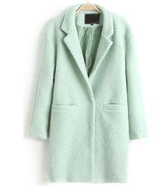 manteau femme vert menthe veste femme en laine manteau femme tendance cardigan femme - Manteau Femme Color