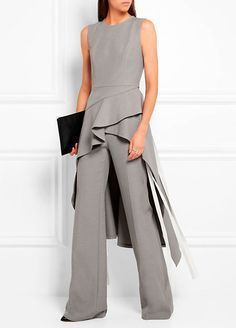- Chambray wide-leg pants, Asymmetric chambray tunic, ( ADEAM ) - Lattice-paneled leather ankle boots ( FRANCESCO RUSSO ), Antigona pouch in black textured-leather ( GIVENCHY ) Chambray Tunic, Mode Inspiration, Beautiful Outfits, Evening Dresses, Fashion Dresses, Dresses For Work, Glamour, Stylish, Womens Fashion