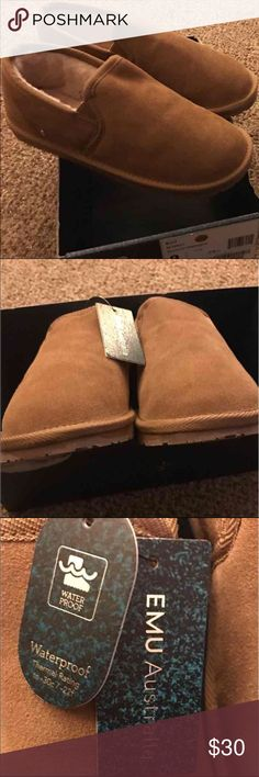 Women's EMU shoe/loafer UGG like style These are Women's EMU shoe/loafer/slipper. These are waterproof with Australian sheepskin lining (comparable to UGG's) these are thermal rated to -30c / -22f   These are NOT UGG brand. Only listed under Ugg as they are comparable.   These are brand new with tags. I will not ship in box to reduce shipping cost. If you are looking to purchase more than 1 pair of shoes, I can do a discounted combined shipping rate.   Taking offers! These will be shipped…