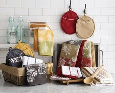 Liven up your kitchen with our cafe express fashion kitchen linen. #SteinMart