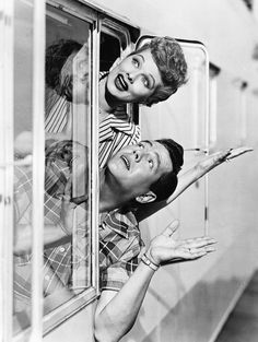 Lucille Ball and Desi Arnaz, 1953.