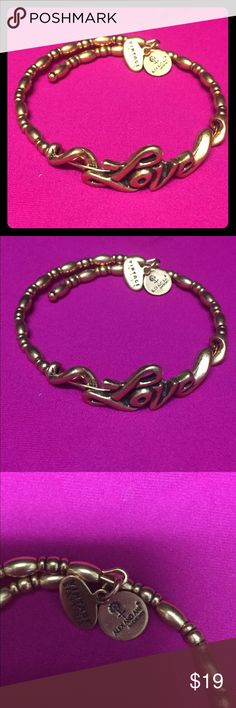 Alex and Ani expandable bangle Alex and Ani vintage 66 love wrap bracelet. Retails for $48. Purchased at Nordstrom Alex & Ani Jewelry Bracelets