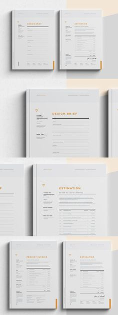 Corporate Design Brief - Estimation - Invoice Templates InDesign INDD Zucchini: A Power House of Nut