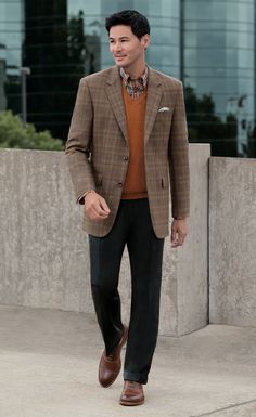 Fleece Rich Sportcoat for fall business casual looks.