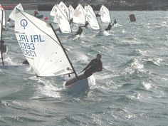 optimist sailing...I used to race these! Miss being 85 lbs and flying across the water like this.