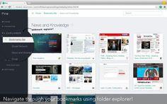 Pine es una extensión para Chrome que funciona como un excelente gestor de marcadores para el navegador de Google. Con vistas en miniatura y previa.