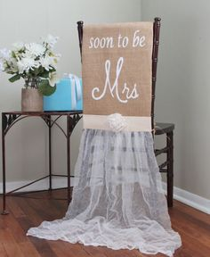 Make the Soon To Be Bride a Princess for the day by using this beautiful chair…