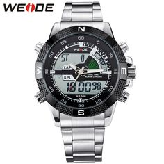 ecb9389bb9d76 WEIDE Men Sports Analog Digital Backlight Date Stopwatch Watch  Multifunction Military Watch for Men Quartz Relogio Masculino-in Dual  Display Watches from ...
