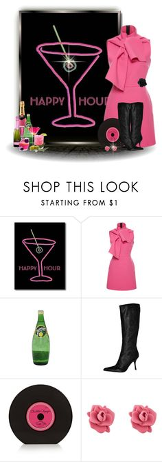"""""""Headed to Happy Hour"""" by jackie-eschbach ❤ liked on Polyvore featuring Retrò, MSGM, Roberto Cavalli, Charlotte Olympia and Marc by Marc Jacobs"""