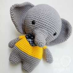 Amigurumi toy models, you can find all the amigurumi animal crochet toy patterns on our website.Amigurumi related to all kinds of free models. Crochet Amigurumi Free Patterns, Knitting Patterns Free, Cute Crochet, Crochet For Kids, Crochet Baby Clothes, Cute Elephant, Yarn Over, Stuffed Toys Patterns, Amigurumi Doll