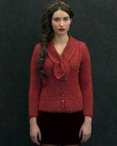 'Blamont' Peplum Jacket & 'Vezins' Collar   Knitting Fever Yarns & Euro Yarns