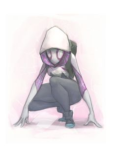 Spider-Gwen by CurroHerrero on DeviantArt . Marvel E Dc, Marvel Comics, Marvel Characters, Female Characters, Comic Art, Comic Books, Spider Gwen, Super Hero Costumes, Spider Verse