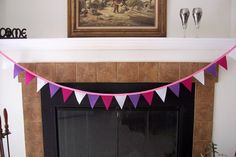 Birthday Banner fabric bunting fabric by BorgmannsCreations