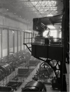 E.O. Hoppé  Engine Room, Lots Road Power Station, Chelsea, London, 1931